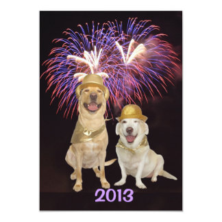 Dog Person New Year's Invitation