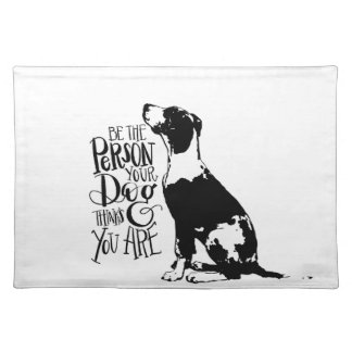 Dog person placemat