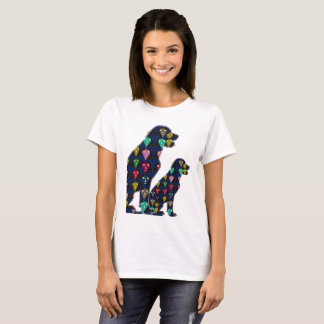 dog PET LABRADOR dot painted pet lovers animals T-Shirt
