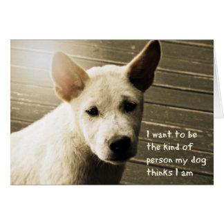 Dog Photo Card -  Bali Puppy