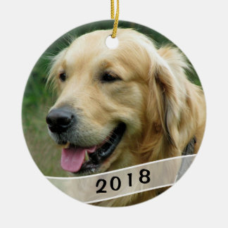 Dog Photo Family Pet Dated Ceramic Ornament