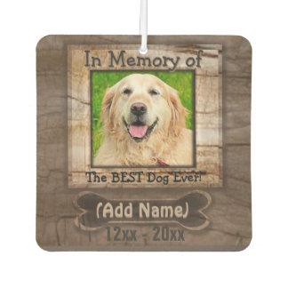 Dog Photo Memorial Car Air Freshener