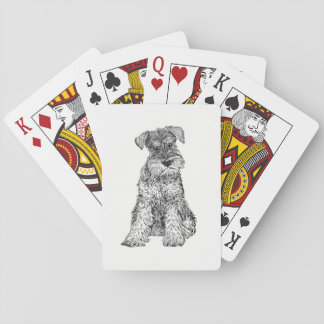 Dog Playing Cards - Schnauzer