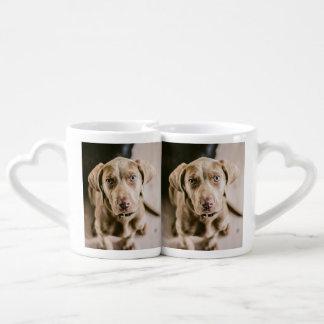 Dog portrait coffee mug set
