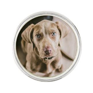 Dog portrait lapel pin