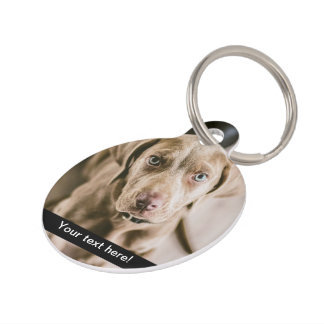 Dog portrait pet ID tag