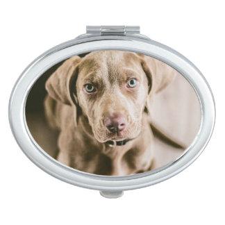 Dog portrait travel mirror