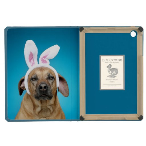Dog portrait wearing Easter bunny ears iPad Mini Cases