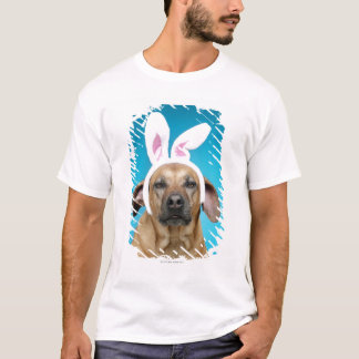 Dog portrait wearing Easter bunny ears T-Shirt
