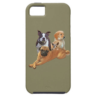 Dog posse with cat iPhone 5 cover