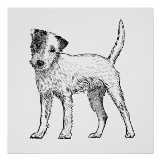 Dog Poster / Wall Art Jack Russell Terrier