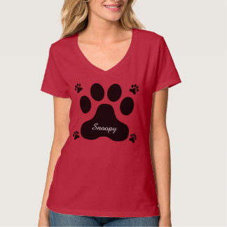 Dog Print Personalized T-Shirt