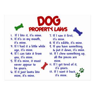 DOG Property Laws 2 Postcards