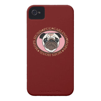 DOG PUG Case-Mate iPhone 4 CASES