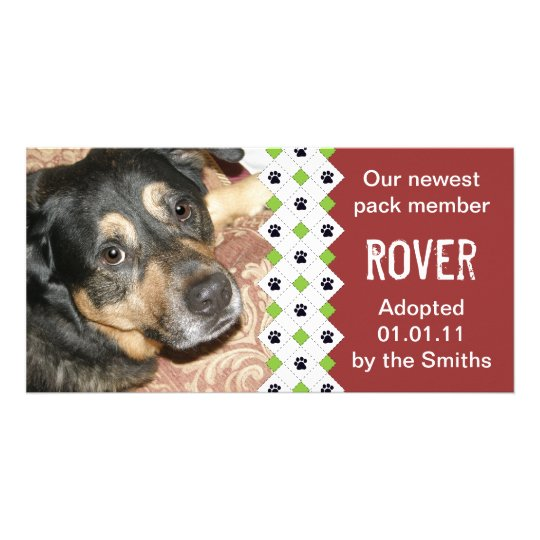 Dog/Puppy Adoption Announcement Card
