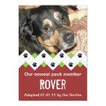 Dog/Puppy Adoption Announcement 13 Cm X 18 Cm Invitation Card