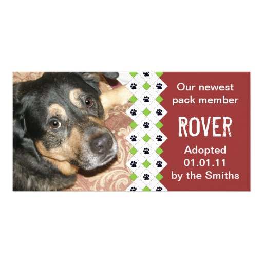 Dog/Puppy Adoption Announcement Photo Greeting Card