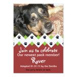 Dog/Puppy Adoption Party Announcement 13 Cm X 18 Cm Invitation Card