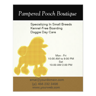 Dog Puppy Grooming Salon Customized Pet Care Flyer