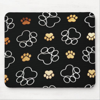 Dog Puppy Paw Prints Gifts for Dog Lovers Mouse Pad