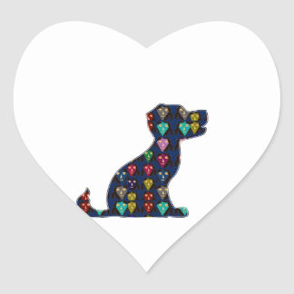 DOG PUPPY PET Gifts for Kids and Animal Lovers Heart Sticker
