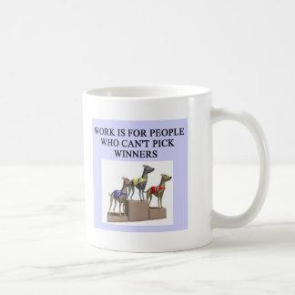 dog racing proverb basic white mug