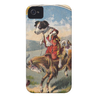 Dog Rides the Goat iPhone 4 Case-Mate Case