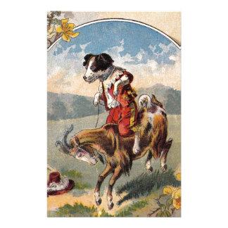 Dog Rides the Goat Stationery