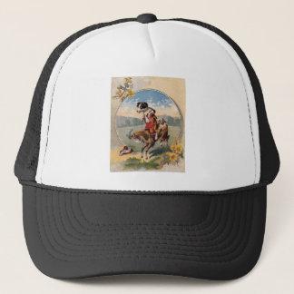 Dog Rides the Goat Trucker Hat