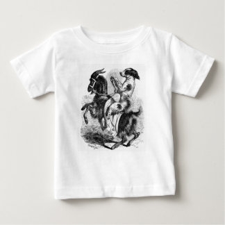 Dog Riding a Goat Baby T-Shirt