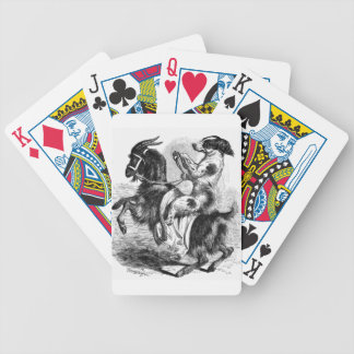 Dog Riding a Goat Bicycle Playing Cards