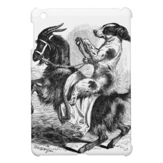 Dog Riding a Goat Cover For The iPad Mini