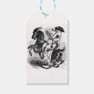 Dog Riding a Goat Gift Tags