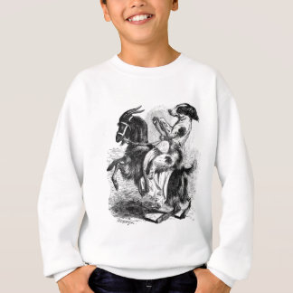 Dog Riding a Goat Sweatshirt