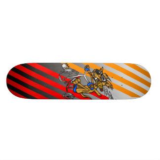 Dog Riding Bike 20 Cm Skateboard Deck