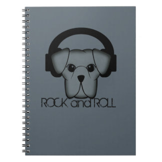 dog rock and roll notebook