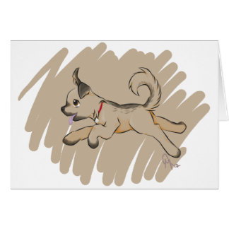 Dog Romping Happily Card