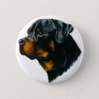 dog-rottweiler 6 cm round badge