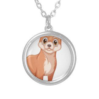 Dog Round Pendant Necklace