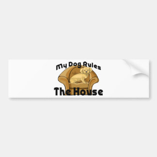 Dog Rules The House Bumper Sticker