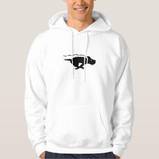 Dog Running Hooded Sweatshirt