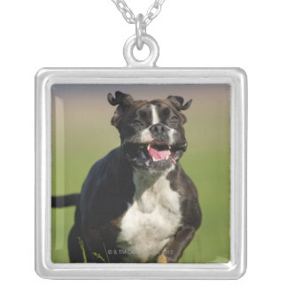 Dog Running Silver Plated Necklace
