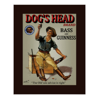 Dog's Head Bottling Co.~ Read Brothers Ltd. London Poster