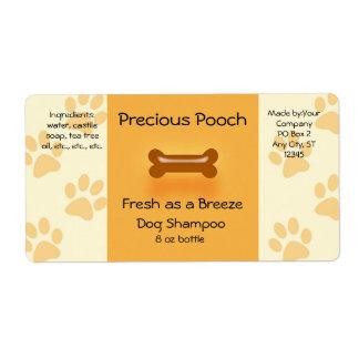 Dog Shampoo Soap Label (orange) Shipping Label