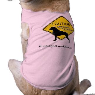 Dog Shirt- Caution my Boxer is a lap dog Shirt