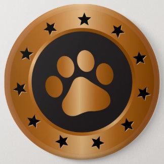 Dog show winner bronze medal 6 cm round badge