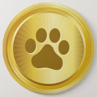 Dog show winner gold medal 6 cm round badge