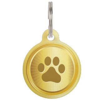 Dog show winner gold medal pet tag