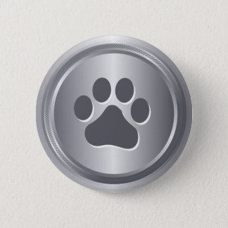 Dog show winner silver medal 6 cm round badge