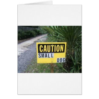 dog sign greeting cards